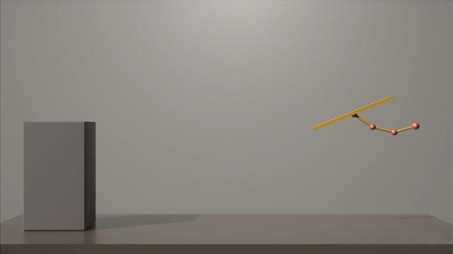 Animazione cartoon di una base con una coda
