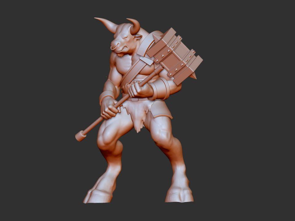 Digital sculpting di un personaggio mitologico