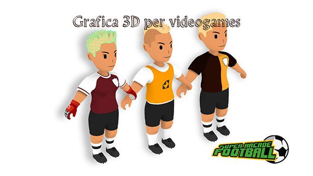 Grafica 3D realizzata per videogames