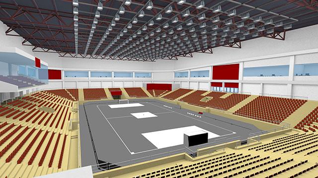 Modellazione dello stadio indoor