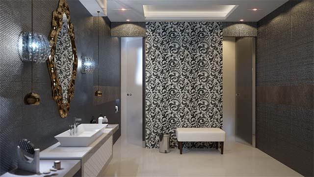 Rendering di interni bagno