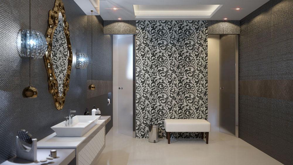 Rendering di interni di un bagno
