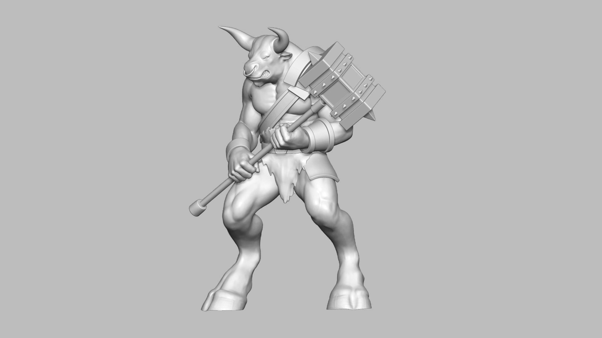 Digital-sculpting-Minotauro-bw
