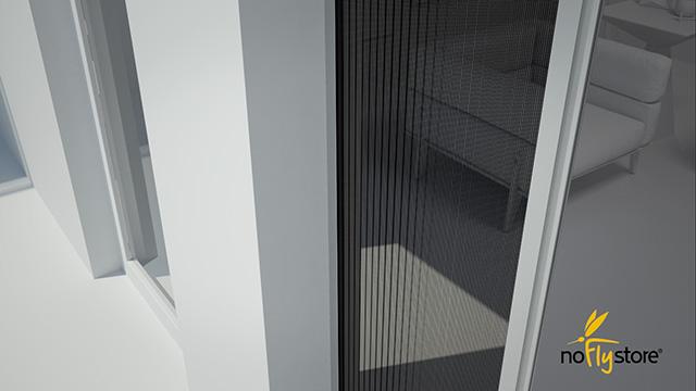 Videotutorial in grafica 3D sul montaggio di una zanzariera