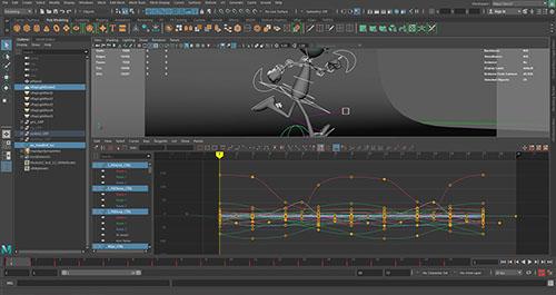 Curve di controllo per animazione 3D di personaggi