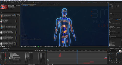 montaggio video e audio dell'animazione