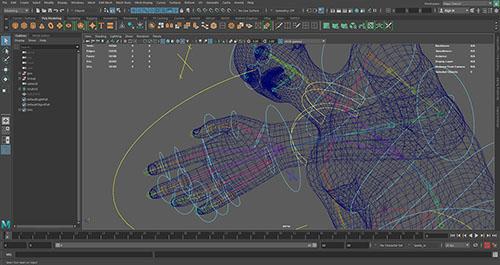 rigging di un personaggio per un animazione 3D